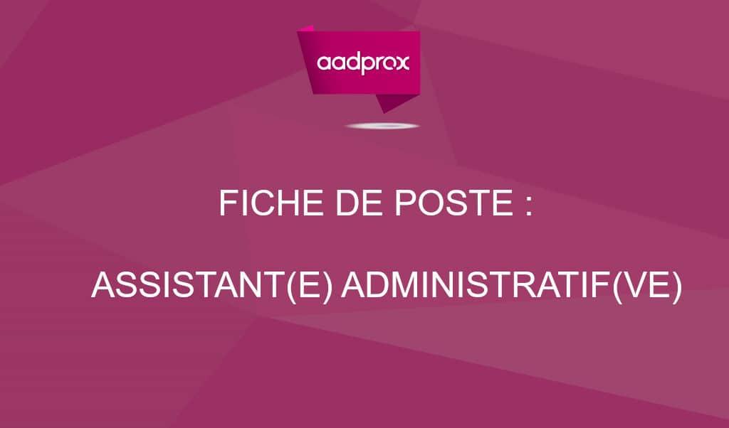 modele de fiche de poste adjoint administratif