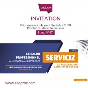 Retrouvez-nous au salon Serviciz le 8 octobre 2020 à Toulouse